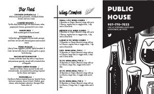 Industrial Pub Takeout Menu