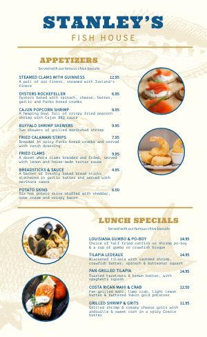 Essential Seafood Menu