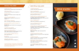 Patio Fine Dining Folded Menu