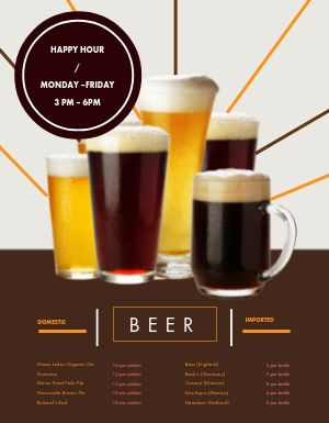 Beer Lover Pub Menu