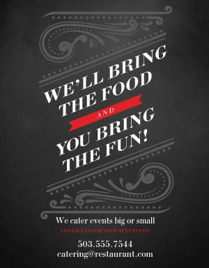 Event Catering Flyer