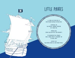 Pirate Ships Kids Menu