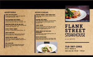 Simple Steak Takeout Menu