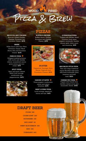 Pizza Beer Menu