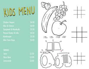 Fruit Kids Menu