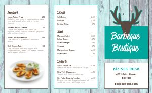 Barbeque BBQ Takeout Menu