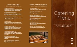 Catering Takeout Menu