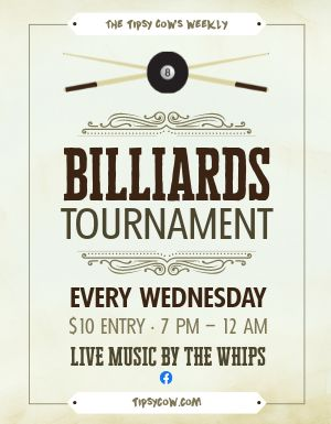 Billiards Flyer