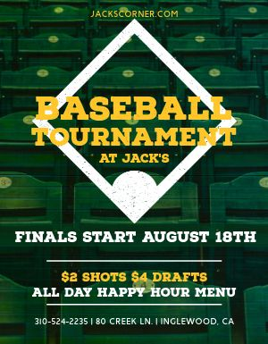 Baseball Tournament Flyer