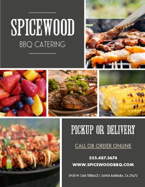 BBQ Catering Flyer