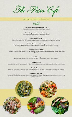 Gourmet Vegan Menu