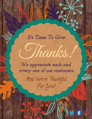 Thanksgiving Customer Flyer