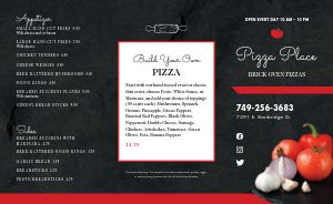 Delicious Pizza Takeout Menu