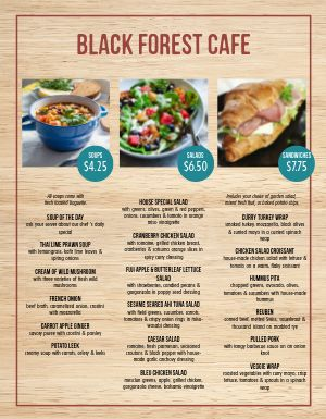 Garden Grove Cafe Menu