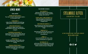 Gourmet Country Club Takeout Menu