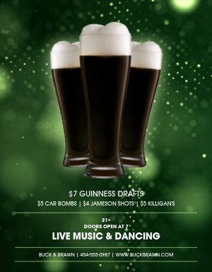 St Patricks Celebration Flyer