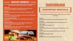 Sandwich Digital Menu Board