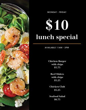 Salad Lunch Specials Menu