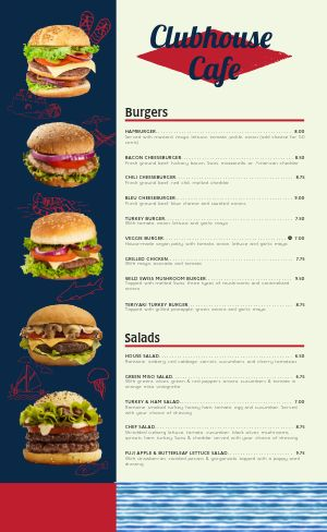 Burger Cafe Menu