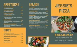 Modern Photos Pizza Takeout Menu