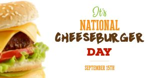 National Cheeseburger Day Facebook Post