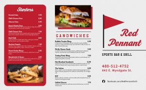 Classic Sports Bar Takeout Menu