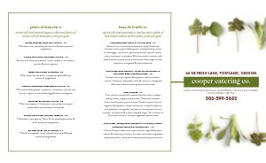 Fresh Catering Takeout Menu