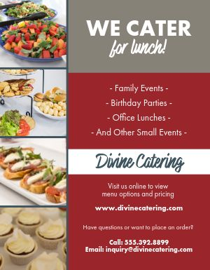 Lunch Catering Flyer