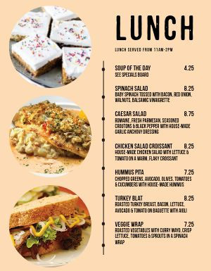 Daily Lunch Specials Menu