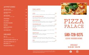 Orange Pizza Takeout Menu