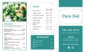 French Deli Takeout Menu