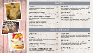 Rustic Bakery Digital Menu Board