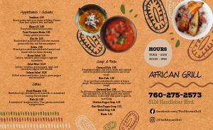 African Lunch Takeout Menu