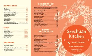 Chinese Kitchen Takeout Menu