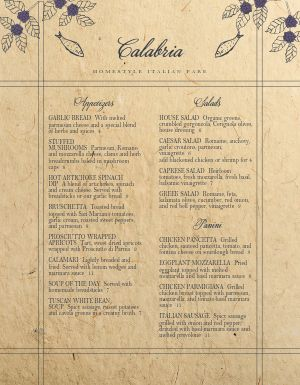 Old Country Italian Menu