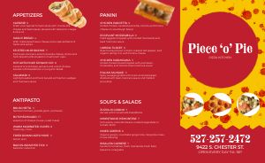 Pizza Pie Italian Takeout Menu