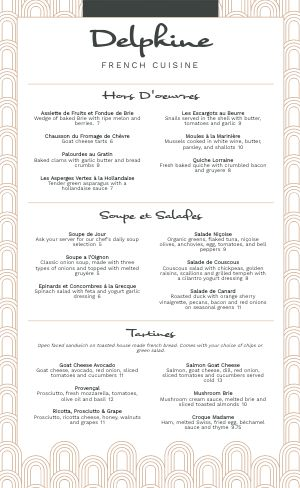 French Table Menu