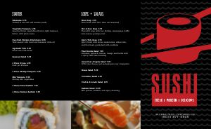 Bold Japanese Takeout Menu