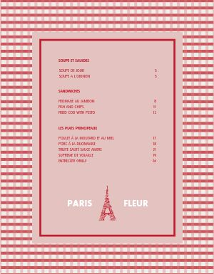 French Diner Menu