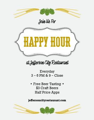 Brewery Happy Hour Flyer