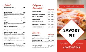 Pizzeria Takeout Menu