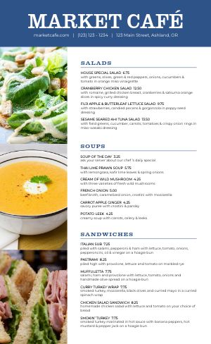 Market Cafe Family Menu