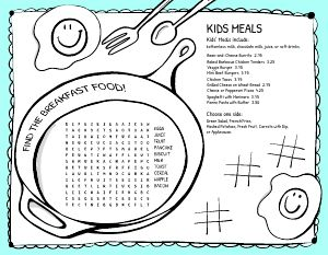 Kids Menu Idea
