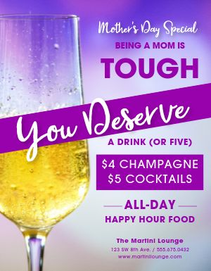 Mothers Day Champagne Flyer