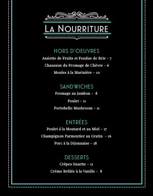 French After Dark Menu