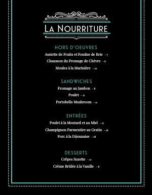 French After Dark Menu