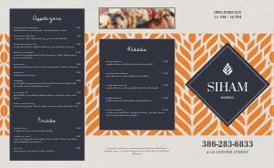 Elegant Middle Eastern Takeout Menu