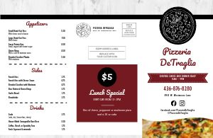 Pizza Menu Mailer