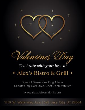 Valentines Day Restaurant Flyer