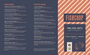 Example Seafood Takeout Menu